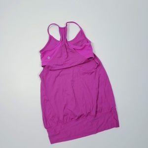 Lululemon Practice Freely Hot Pink Tank Size 4